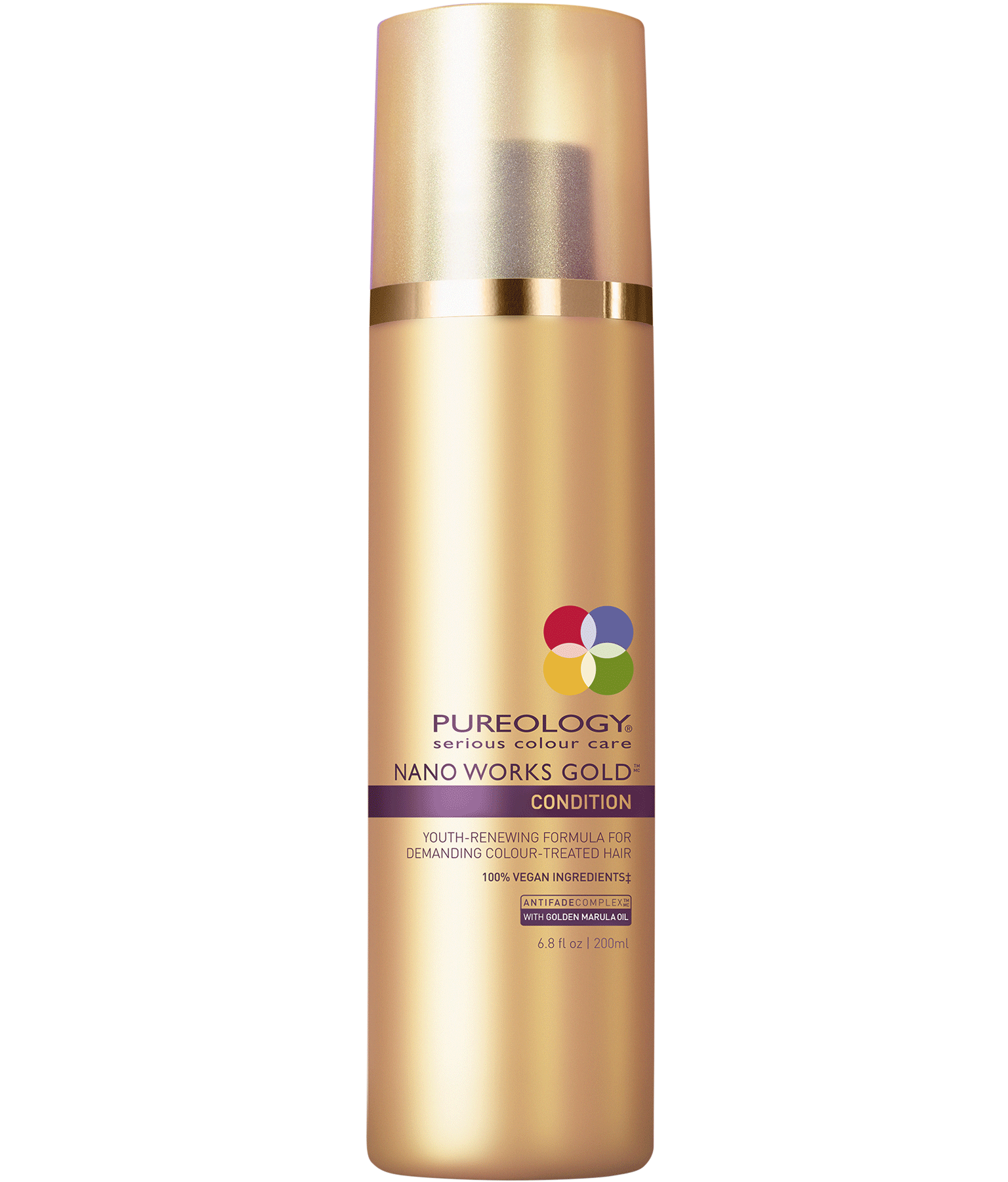 pureology nano works gold conditioner planet sol salon. Black Bedroom Furniture Sets. Home Design Ideas